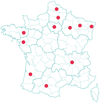Carte france agences colocatere